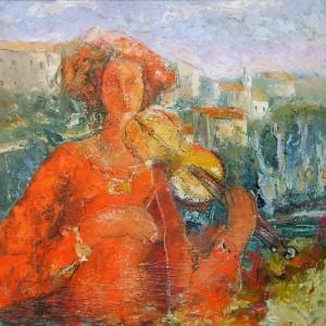 Ugolini Sergio - La ragazza con il vestito rosso -