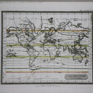 carta delle isoterme della terra