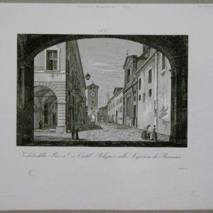 veduta della piazza di castel bolognese