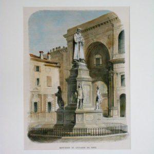 Milano monumento a Leonardo da Vinci