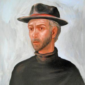 D'Ambrosio Silvano-Autoritratto con cappello 2006