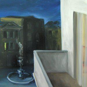 D'Ambrosio Silvano - Terrazzo di notte,